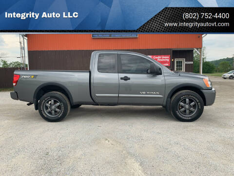2015 Nissan Titan for sale at Integrity Auto LLC - Integrity Auto 2.0 in St. Albans VT