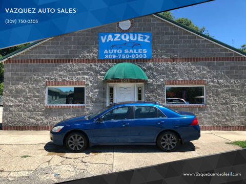 2006 Honda Accord for sale at VAZQUEZ AUTO SALES in Bloomington IL