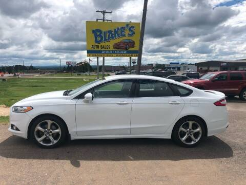 2013 Ford Fusion for sale at Blakes Auto Sales in Rice Lake WI