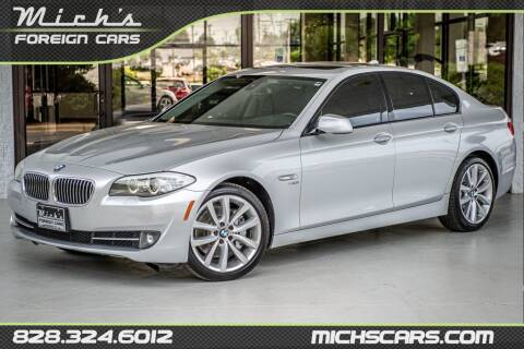 2011 BMW 5 Series for sale at Mich's Foreign Cars in Hickory NC