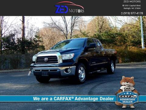 2008 Toyota Tundra for sale at Zed Motors in Raleigh NC