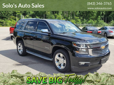 2015 Chevrolet Tahoe for sale at Solo's Auto Sales in Timmonsville SC