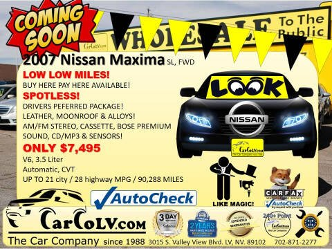 2007 Nissan Maxima for sale at The Car Company in Las Vegas NV