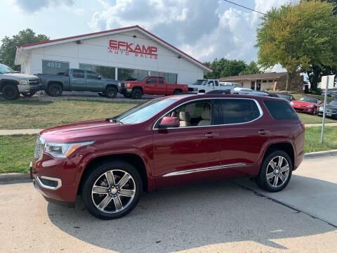2017 GMC Acadia for sale at Efkamp Auto Sales LLC in Des Moines IA