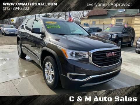 2018 GMC Acadia for sale at C & M Auto Sales in Detroit MI
