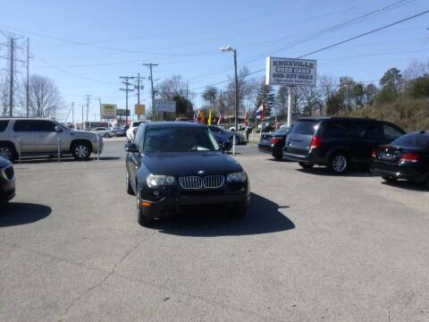 2010 BMW X3 for sale at Knoxville Used Cars in Knoxville TN