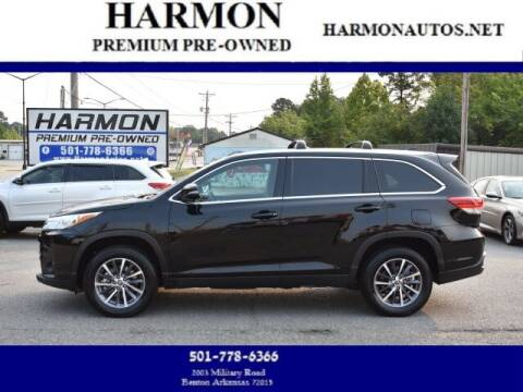 2019 Toyota Highlander for sale at Harmon Premium Pre-Owned in Benton AR