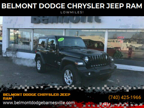 2020 Jeep Wrangler for sale at BELMONT DODGE CHRYSLER JEEP RAM in Barnesville OH