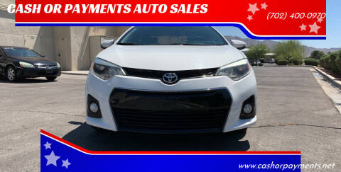 2014 Toyota Corolla for sale at CASH OR PAYMENTS AUTO SALES in Las Vegas NV