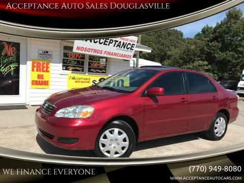 2007 Toyota Corolla for sale at Acceptance Auto Sales Douglasville in Douglasville GA