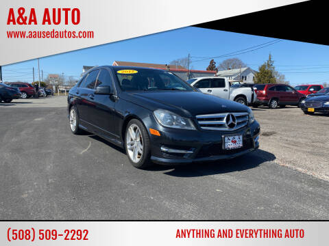 2012 Mercedes-Benz C-Class for sale at A&A AUTO in Fairhaven MA