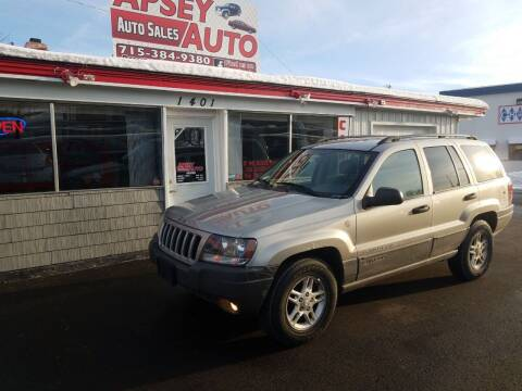 2004 Jeep Grand Cherokee for sale at Apsey Auto in Marshfield WI