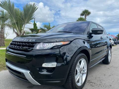 2013 Land Rover Range Rover Evoque for sale at GCR MOTORSPORTS in Hollywood FL