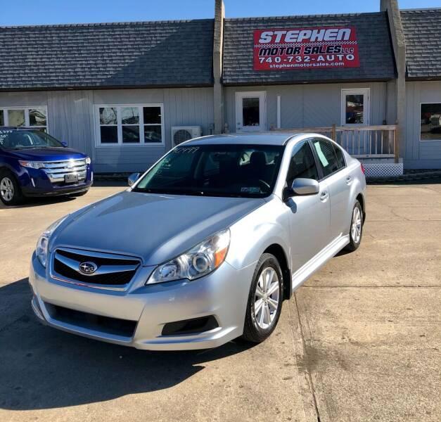 2012 Subaru Legacy for sale at Stephen Motor Sales LLC in Caldwell OH