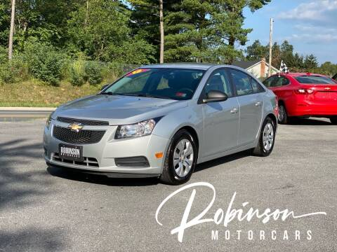 2013 Chevrolet Cruze for sale at Robinson Motorcars in Hedgesville WV