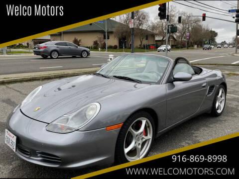 2003 Porsche Boxster for sale at Welco Motors in Rancho Cordova CA