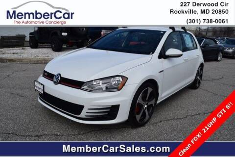 2017 Volkswagen Golf GTI for sale at MemberCar in Rockville MD