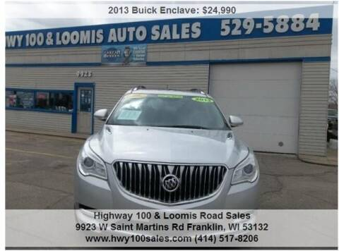 2013 Buick Enclave for sale at Highway 100 & Loomis Road Sales in Franklin WI