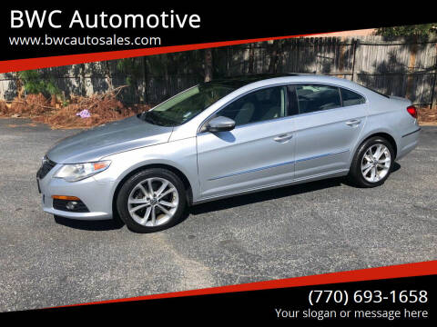 2010 Volkswagen CC for sale at BWC Automotive in Kennesaw GA