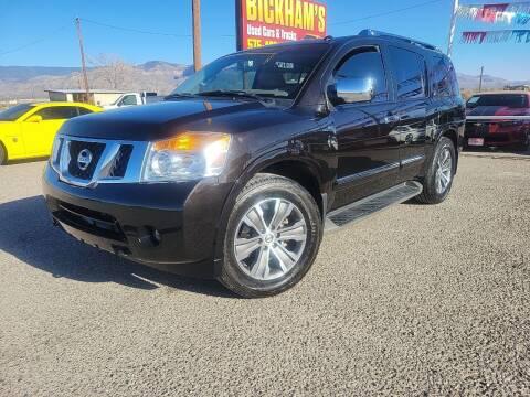 2015 Nissan Armada for sale at Bickham Used Cars in Alamogordo NM