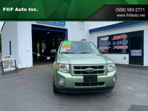 2009 Ford Escape Hybrid for sale at F&F Auto Inc. in West Bridgewater MA