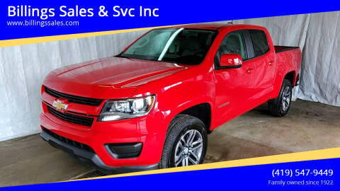 2019 Chevrolet Colorado for sale at Billings Sales & Svc Inc in Clyde OH