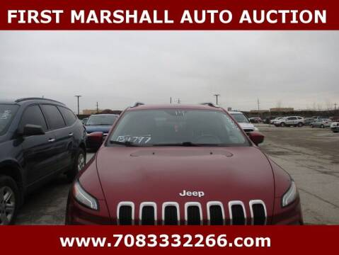 2014 Jeep Cherokee for sale at First Marshall Auto Auction in Harvey IL