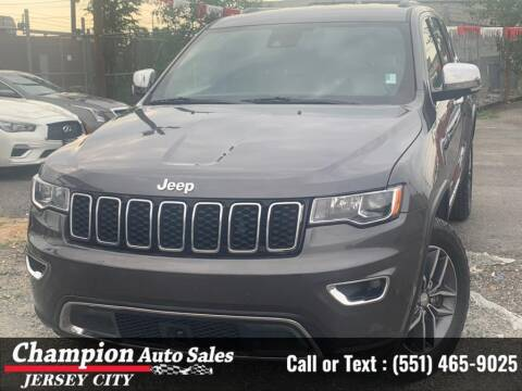 2018 Jeep Grand Cherokee for sale at CHAMPION AUTO SALES OF JERSEY CITY in Jersey City NJ