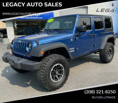 2010 Jeep Wrangler Unlimited for sale at LEGACY AUTO SALES in Boise ID