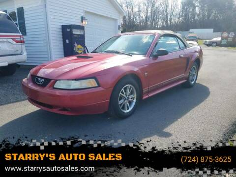 2000 Ford Mustang for sale at STARRY'S AUTO SALES in New Alexandria PA