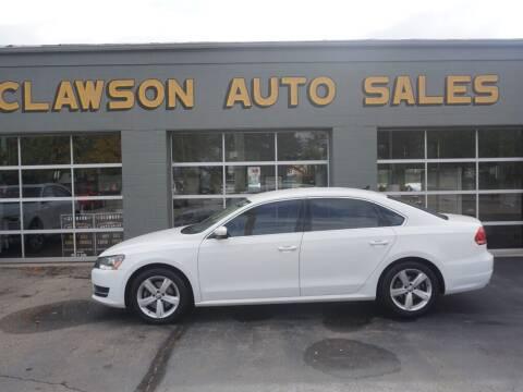 2013 Volkswagen Passat for sale at Clawson Auto Sales in Clawson MI