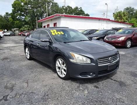 2009 Nissan Maxima for sale at DONNY MILLS AUTO SALES in Largo FL