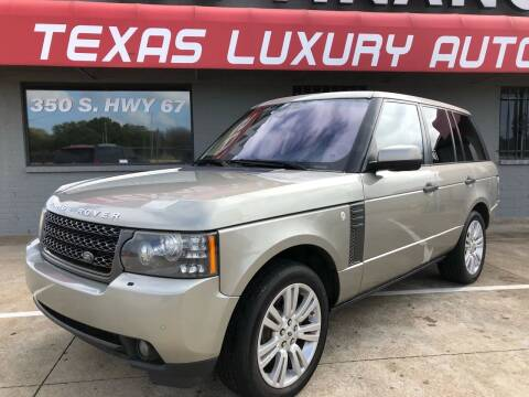 2011 Land Rover Range Rover for sale at Texas Luxury Auto in Cedar Hill TX
