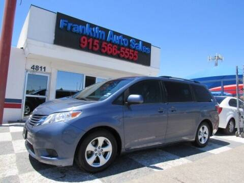 2015 Toyota Sienna for sale at Franklin Auto Sales in El Paso TX