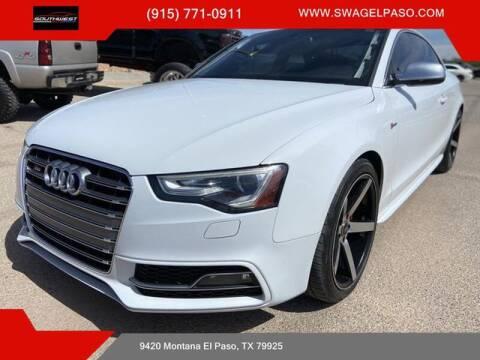 2013 Audi S5 for sale at SOUTHWEST AUTO GROUP-EL PASO in El Paso TX