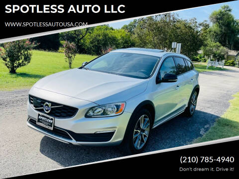 2017 Volvo V60 Cross Country for sale at SPOTLESS AUTO LLC in San Antonio TX