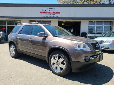 2010 GMC Acadia for sale at Landes Family Auto Sales in Attleboro MA