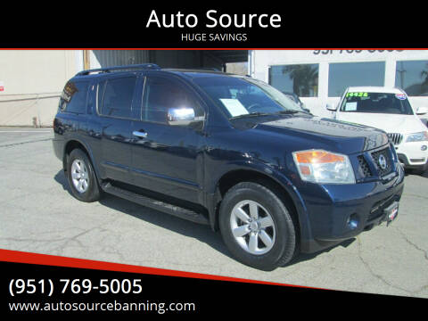 2010 Nissan Armada for sale at Auto Source in Banning CA