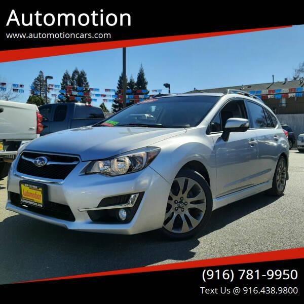 2016 Subaru Impreza for sale at Automotion in Roseville CA