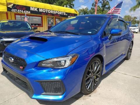 2019 Subaru WRX for sale at MK Motorsports LLC. in Orlando FL