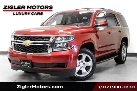 2015 Chevrolet Tahoe for sale at Zigler Motors in Addison TX