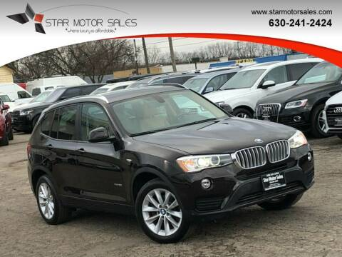 2016 BMW X3 for sale at Star Motor Sales in Downers Grove IL