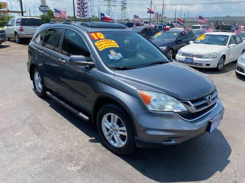 2010 Honda CR-V for sale at Texas 1 Auto Finance in Kemah TX