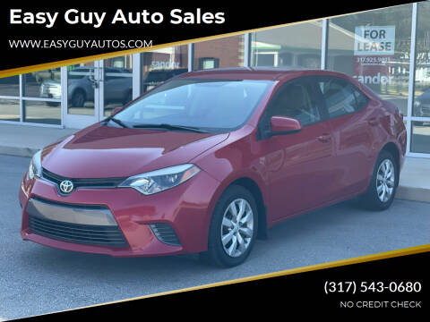 2016 Toyota Corolla for sale at Easy Guy Auto Sales in Indianapolis IN