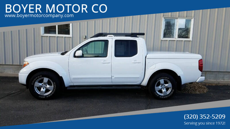 2008 Nissan Frontier for sale at BOYER MOTOR CO in Sauk Centre MN
