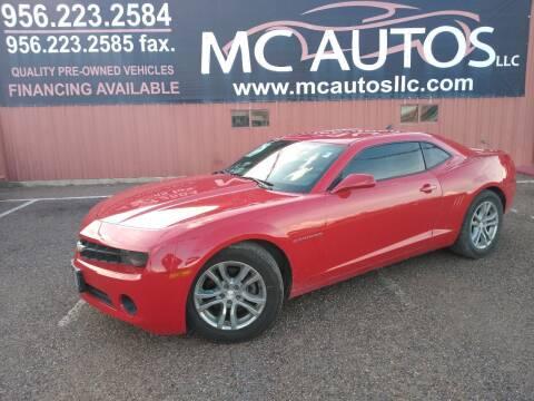 2012 Chevrolet Camaro for sale at MC Autos LLC in Pharr TX