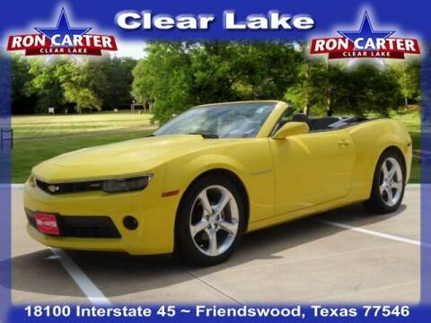 2015 Chevrolet Camaro for sale at Ron Carter  Clear Lake Used Cars in Houston TX