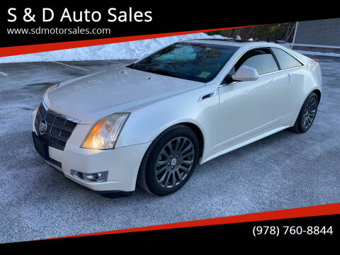 2011 Cadillac CTS for sale at S & D Auto Sales in Maynard MA