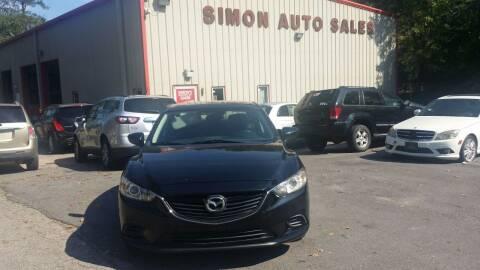 2015 Mazda MAZDA6 for sale at Simon's Auto Sales in Clayton NC