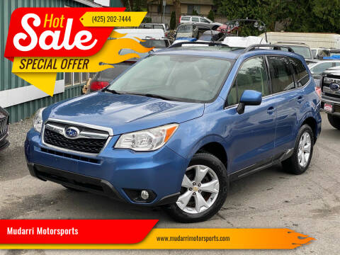 2015 Subaru Forester for sale at Mudarri Motorsports in Kirkland WA